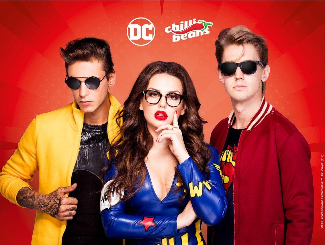 c901ecfffbf19 Conheça a coleção Super-Heróis da Chilli Beans estrelada pela Kéfera ...