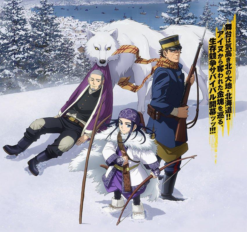 Anime de Golden Kamui tem primeiro trailer divulgado