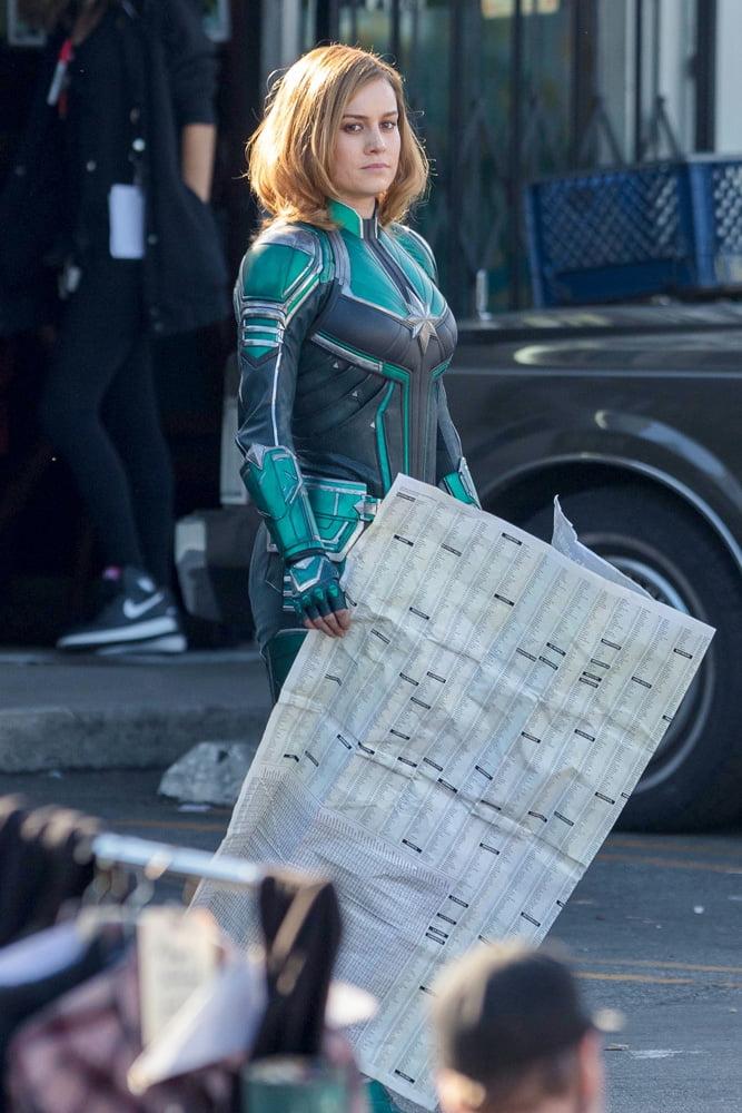 Capitã Marvel   Vazam fotos de Brie Larson com o uniforme da heroína