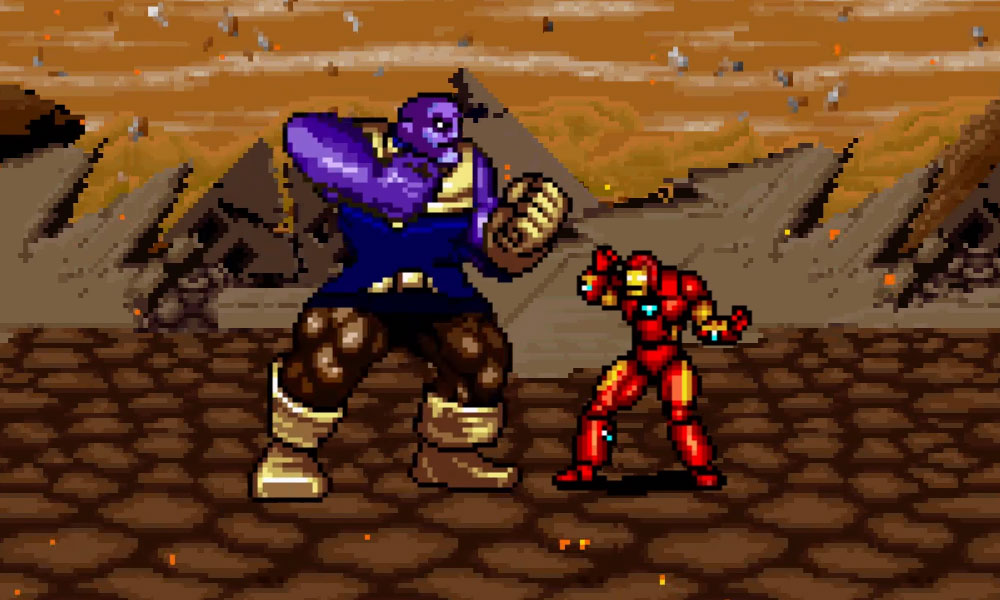 Vingadores: Guerra Infinita ganha trailer feito todo em 8 Bits.