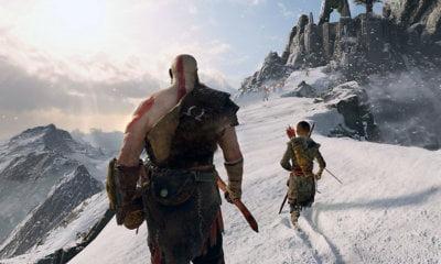 God of War   Game é promovido com projeção durante jogo da NBA