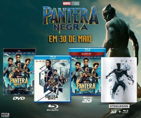 Pantera Negra será lançado em Steelbook no Brasil! Confira as edições e a data de lançamento