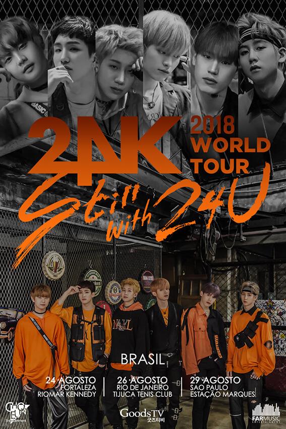 Grupo de K-Pop 24K chega nesse mês de agosto ao Brasil com nova turnê
