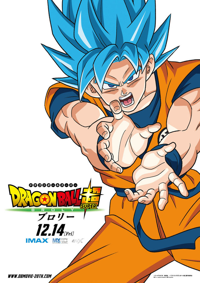 Dragon Ball Super: Broly ganha novos posters com os personagens do filme