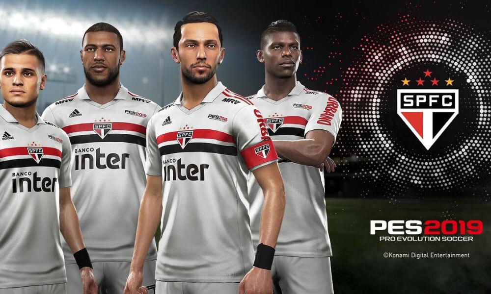 PES 2019 | Konami fecha patrocínio de dois anos com São Paulo