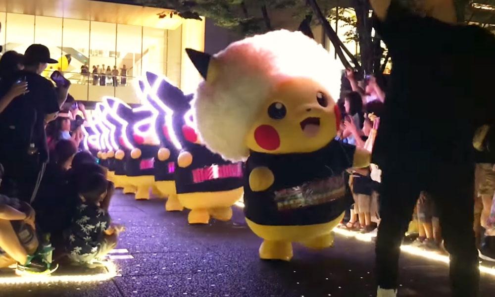 Balada Pokémon | Rave de Pikachu agitou cidade japonesa. Veja