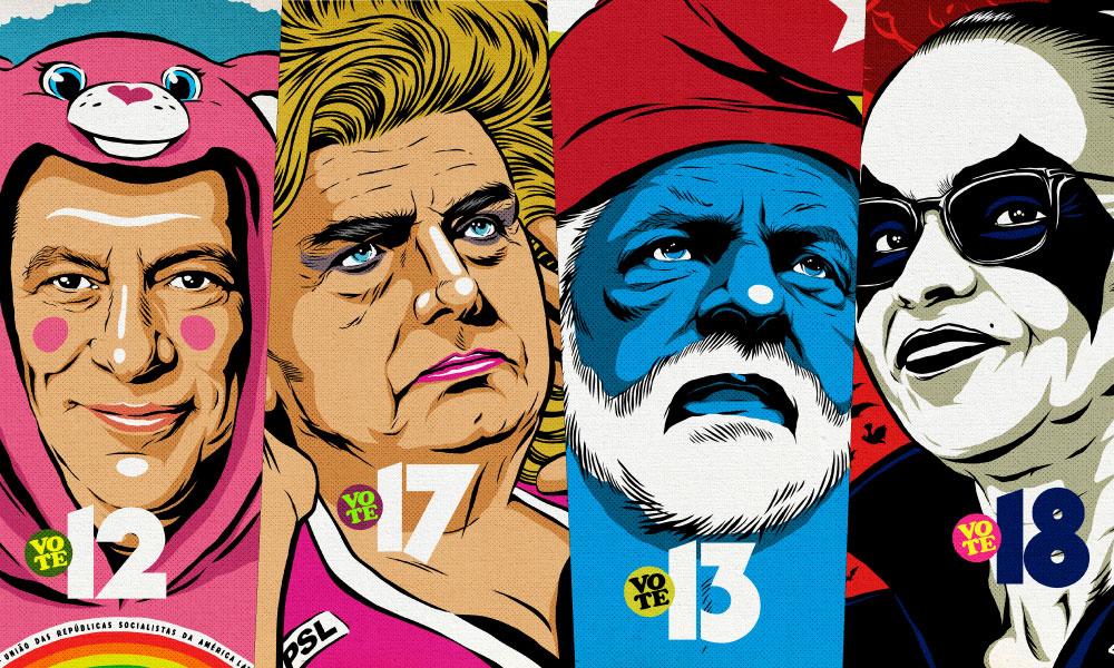 Viralizou! | Artista retrata candidatos à presidência como personagens da cultura pop
