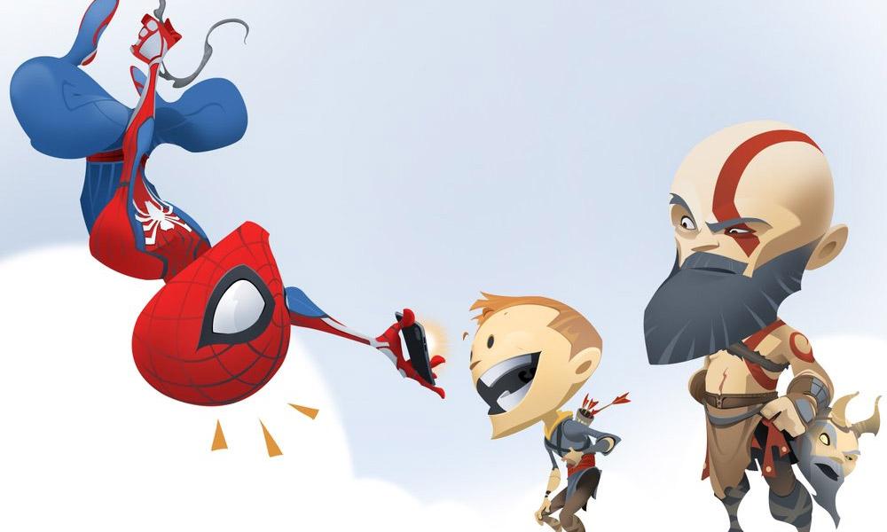 Com chegada de spider man ao ps4 estdio de god of war faz com chegada de spider man ao ps4 estdio de god of war faz homenagem cmica fandeluxe Choice Image