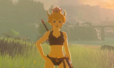 Mod coloca Bowsette dentro de Zelda: Breath of the Wild