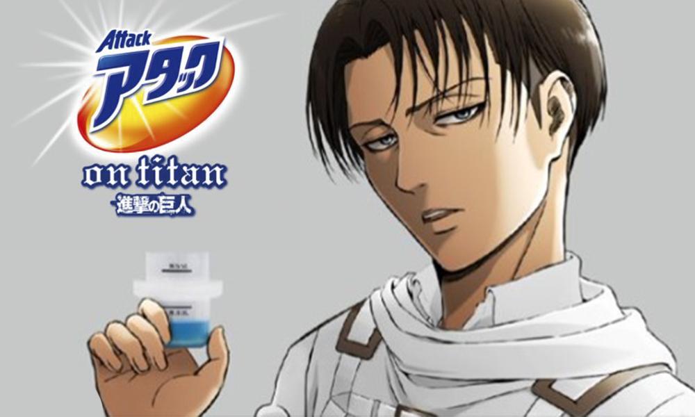 Attack on Titan   Levi surge como garoto propaganda de marca de detergente