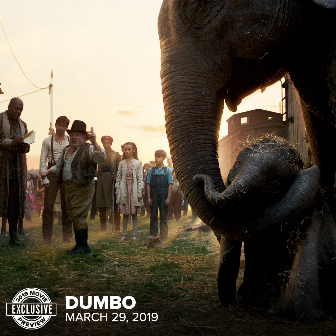 Dumbo | Nova imagem do live-action traz o elefantinho e sua mãe