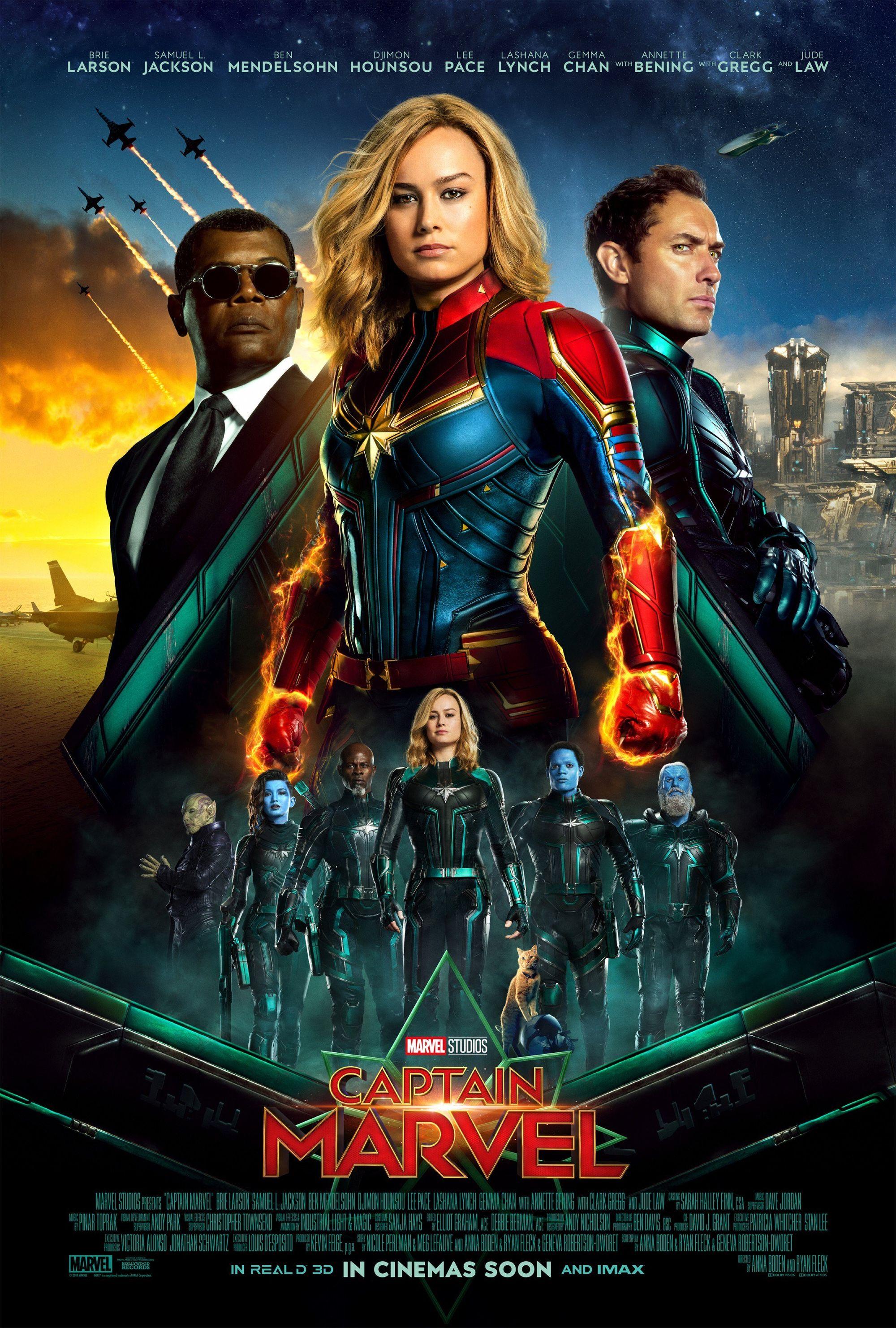Capitã Marvel   Novo poster reúne os principais personagens da trama