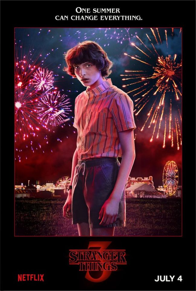 Stranger Things. 3ª temporada ganha posteres dos personagens e novo teaser