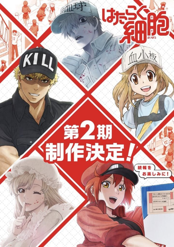 Cells at Work! | Mangá spin-off sobre as Plaquetas chega no final de maio