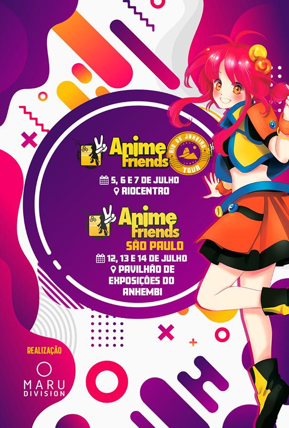 Anime Friends 2019 e Rio Tour têm atrações internacionais confirmadas