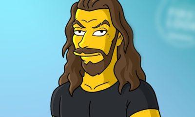 Jason Momoa ganha versão animada em Os Simpsons. Confira!