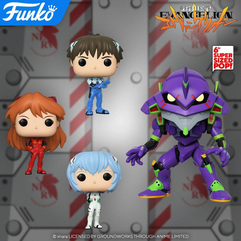 Evangelion | Novos Funko POP! baseados no anime são anunciados