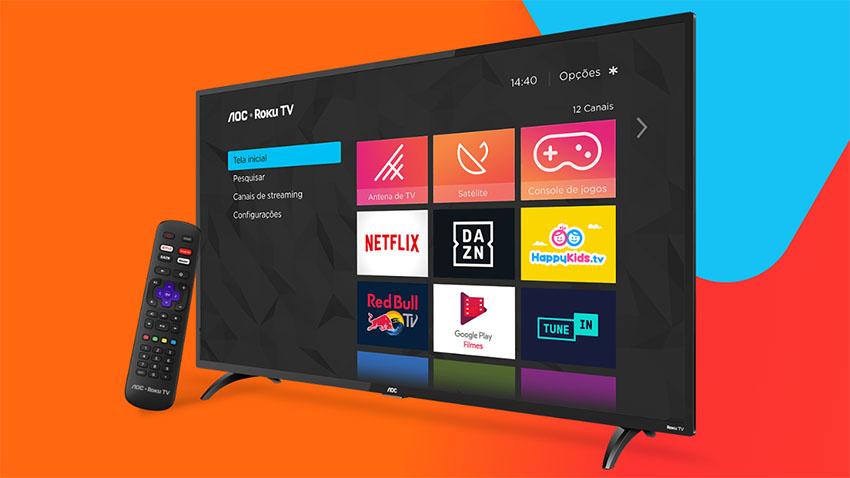 Globoplay fecha parceira com a Roku, que chega ao Brasil com as novas TVs da AOC
