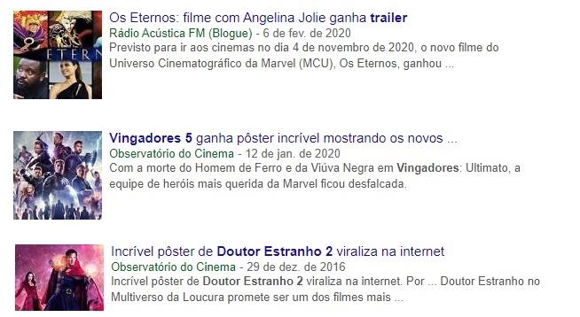 """""""Feito por fãs""""   Fase 4 da Marvel é o novo alvo de clickbaits na internet"""