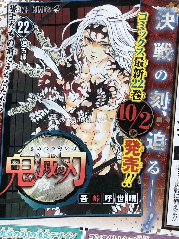 Demon Slayer | Revelada a arte da capa do volume 22 do mangá